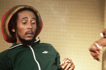 Bob Marley Smoking Marijuana